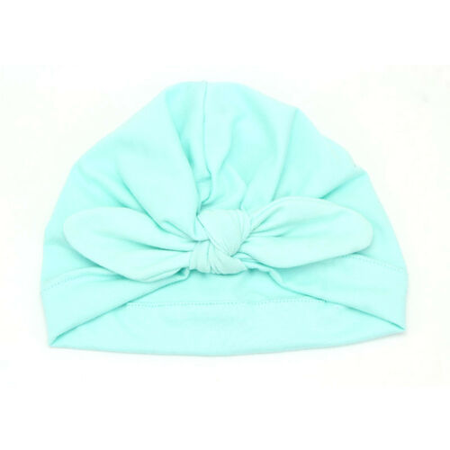 Lovely Newborn Baby Girls Winter Beanie Bonnet Hat Cotton Knot Rabbit Ear Caps