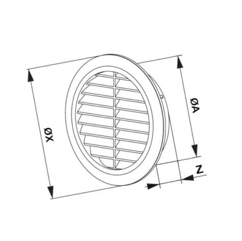 """Circle Air Vent Grille 90mm 3.54/"""" Fly Screen Round Ducting Ventilation Cover T44"""