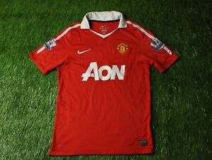 bcc9960fe2 Image is loading MANCHESTER-UNITED-ENGLAND-2010-2011-FOOTBALL-SHIRT-JERSEY-