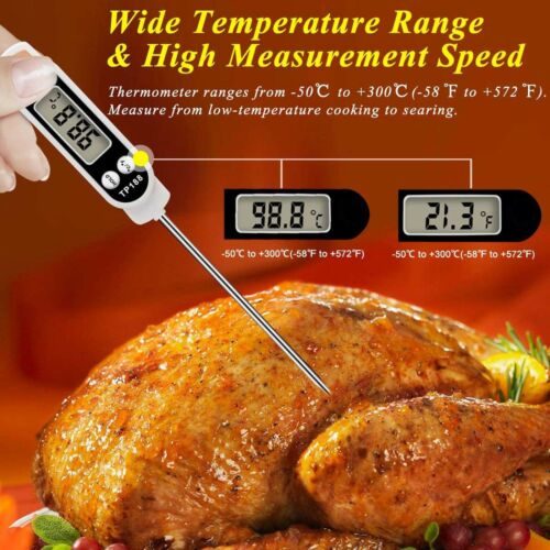 Best Waterproof Instant Read Digital Meat Food Milk Thermometer Ultra Fast