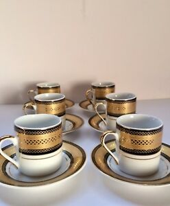 MCS Porzellanfabric Tiger Yedi Porcelain Mini Coffee 6 set of Cup ...