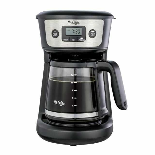 Mr. Coffee 12cup Programmable Coffeemaker Strong Brew Selector Stainless Steel