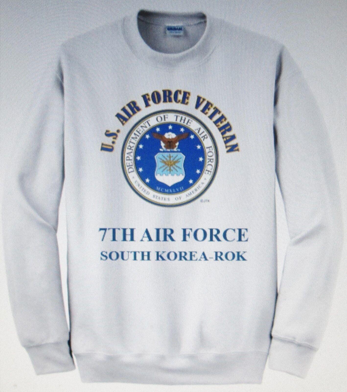 7TH AIR FORCE SOUTH KOREA-ROK U.S. AIR FORCE EMBLEM SWEATSHIRT