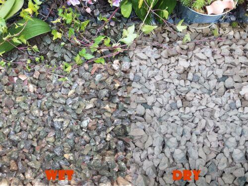 1-30kg iridescent bleu granite gravier concassé pathway dissuader weed top dressing