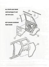 NEW LEFT DRIVERS SIDE REAR DOOR SEAL 1999-2004 JEEP GRAND CHEROKEE WJ
