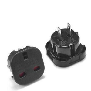 1-X-Travel-Adapter-Black-Plug-Converts-UK-Plugs-3-Pin-to-2-pin-US-USA-Canada-AU