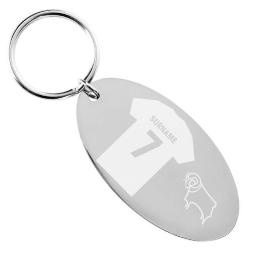 Personalised Keyring SHIRT Derby County F.C