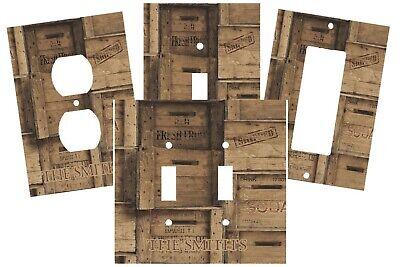 Vintage Distressed Wood Crates