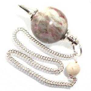 Rubellite-Tourmaline-in-Quartz-Ball-Dowsing-Pendulum-Crystal-Healing-Stone