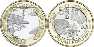 Finlande 5 euro 2013 - Nature Nordique - Soleil de Minuit UNC