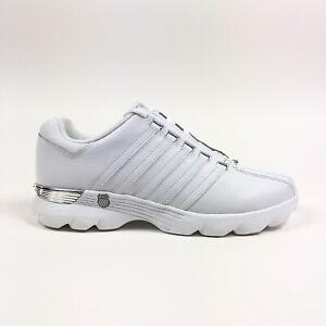 K-Swiss-Beland-White-Platinum-Womens-Low-Training-Shoes-Size-5-5-Retro-9574147