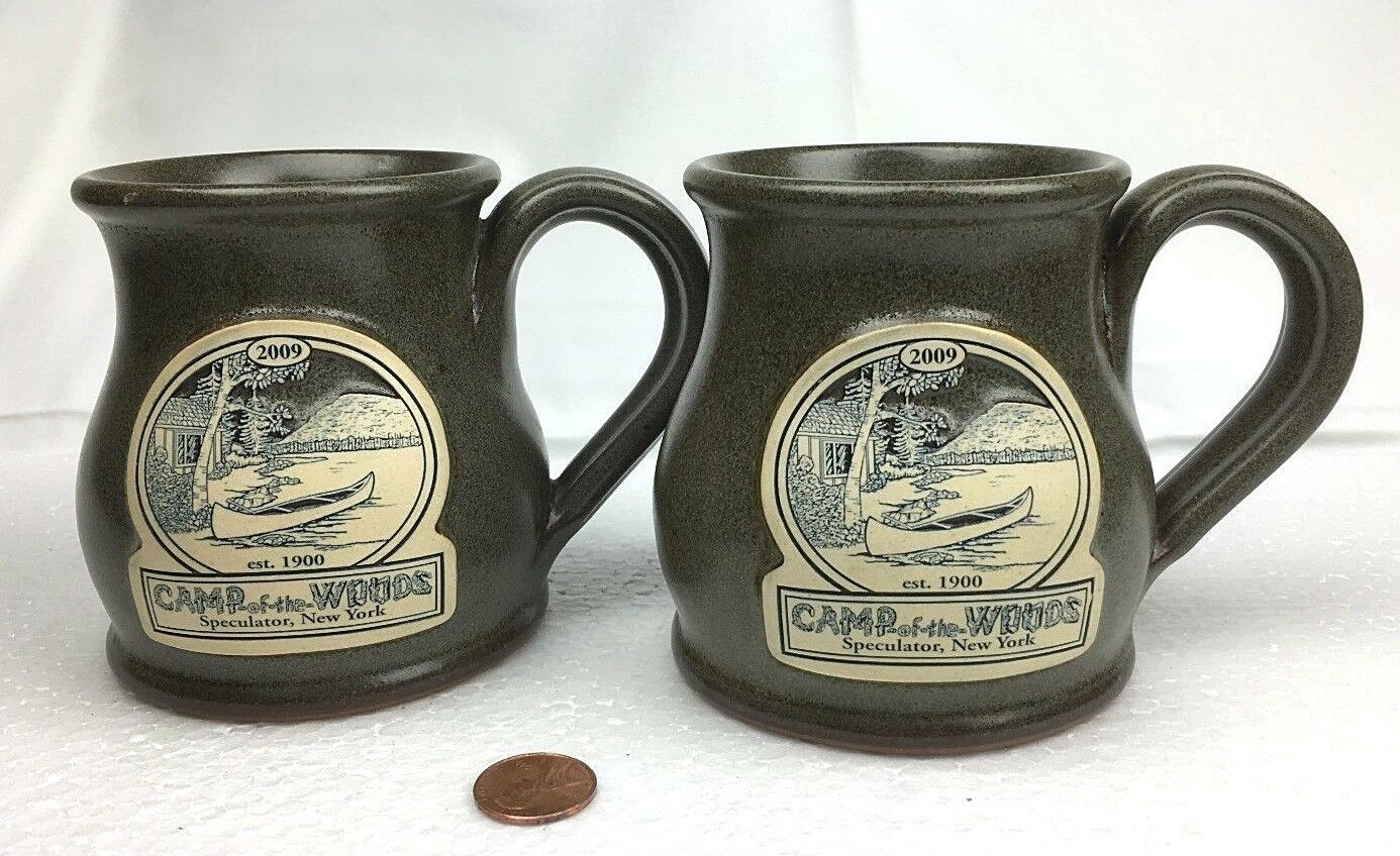 Deneen Pottery tasses café Christian Camp de la Woods Paire 2009 spéculateur New York
