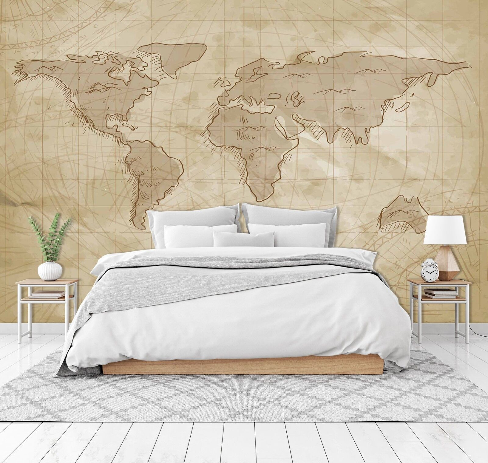 3D World Map 768 Wall Paper Print Wall Decal Deco Indoor Wall Murals US Summer