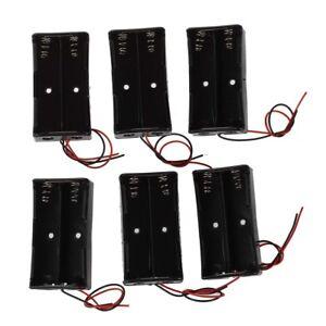 6-Stueck-Schwarzer-Kunststoff-2-x3-7V-18650-Typ-Batterie-Halter-N3H2