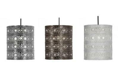 NEW BLACK /& GOLD NOCTURNAL MOROCCAN PENDANT LIGHTSHADE LIGHT CEILING LAMP SHADE