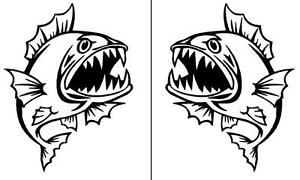 2-x-ANGRY-FISH-stickers-for-your-fishing-boat-or-car-MANGROVE-JACK-DECAL-25cm