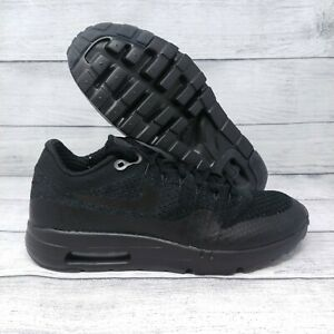 lowest price 3b6f8 45284 Details about Nike Air Max 1 Ultra Flyknit Running Shoes Sz 7.5 Triple  Black (856958-001)