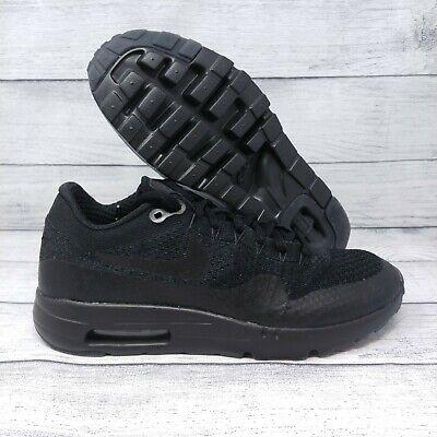 huge discount d4f1b c6523 Nike Air Max 1 Ultra Flyknit Running Shoes Sz 7.5 Triple Black (856958-001)    eBay