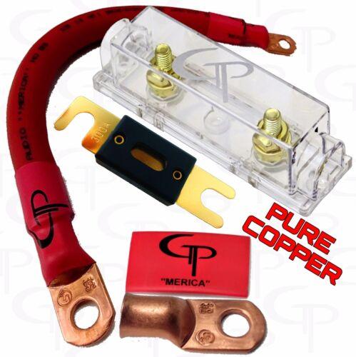 200 AMP ANL Fuse Holder INLINE Block BATTERY INSTALL KIT 2//0 AWG GAUGE COPPER R