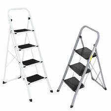 34 Steps Ladder Folding Anti Slip Safety Tread Industrial Home Use 300lbs Load