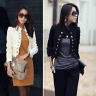 Women Elegant Jacket Short Blazer Suit Slim Long Sleeve Jacket Coat Outerwear