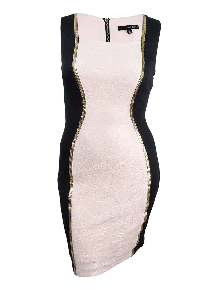 Sangria Woherren Studded Farbeblocked Dress