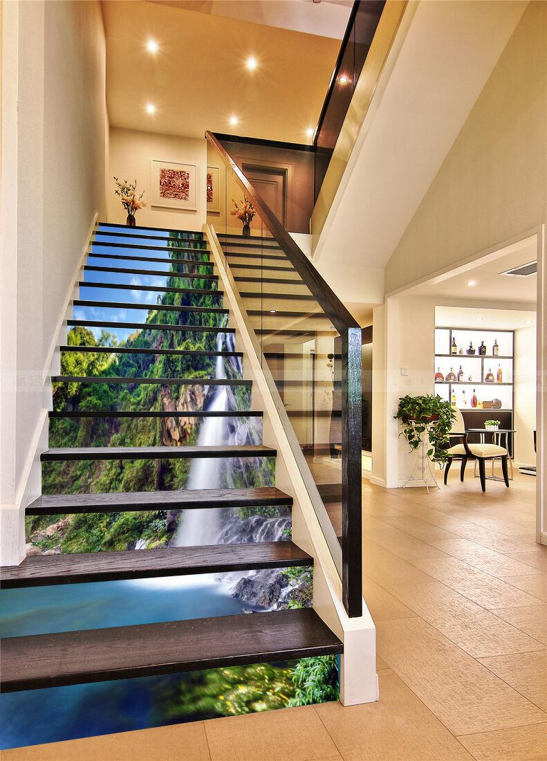 3D Gebirge See 5034 Stair Risers Dekoration Fototapete Vinyl Aufkleber Tapete DE