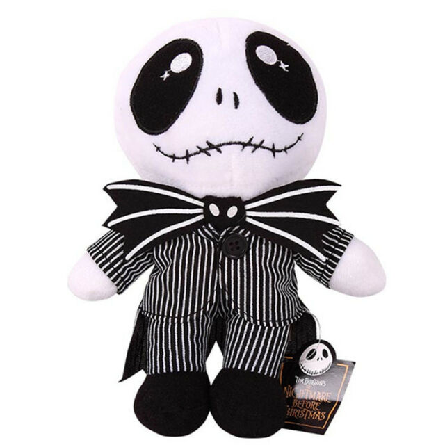 "8""Nightmare Before Christmas Jack Skellington Plush Toy Cute Kid Soft Toy Doll D"