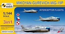 Mark I Models 1/144 Mikoyan MiG-19P Farmer B 'Interceptor Flights' (3in1) # 1445