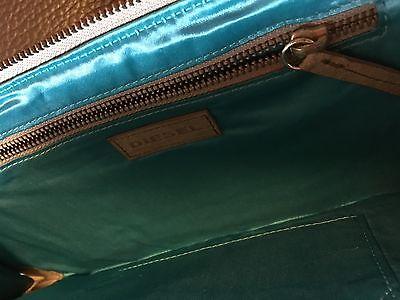 Clutch Abendtasche Tasche Bag groß Diesel Leder grün Party