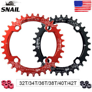 SNAIL-30-42T-BCD104mm-Chainring-MTB-Bike-Narrow-Wide-Single-Speed-Crankset-Bolts