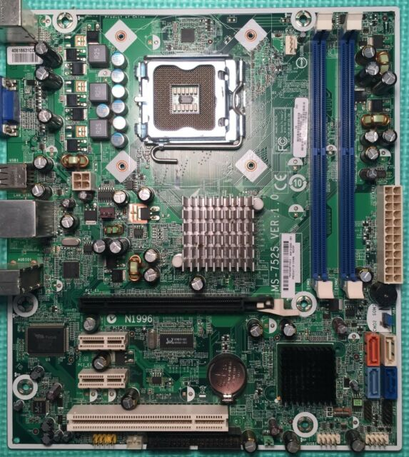 MSI Motherboard MS-7525 VER:1.0 (Boston-GL6)  HP PAVILION + IO Plate