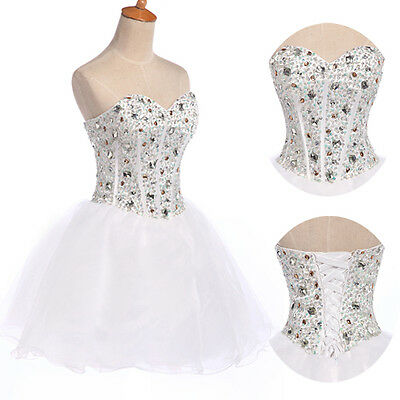 CHEAP Homecoming Beaded Corset Masquerade Prom XMAS Dresses Short Formal Evening