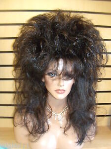 Sin City Wigs Big Rocker 80s Hair Long Straight Spiky Layers Teased