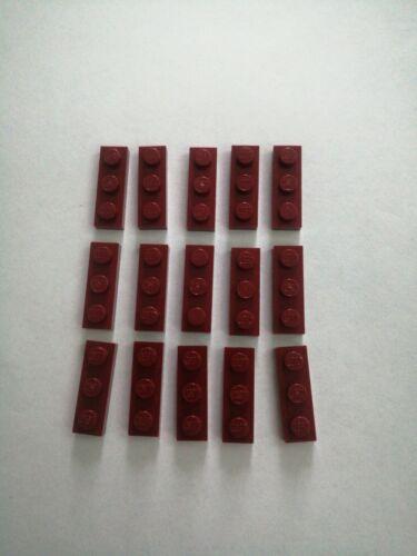 Lego 3623 3x1 Flat Dark Red x15