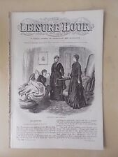ANTIQUE VICTORIAN THE LEISURE HOUR MAGAZINE PAPER No 998 FEBRUARY 11th 1871