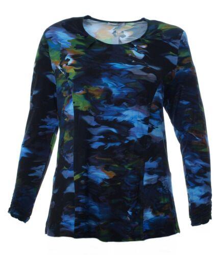 Grandes manches Chemise longues Bleu line pour Lisa A tailles femmes Vert à Imprimé Mona Noir tZqwZxOFr