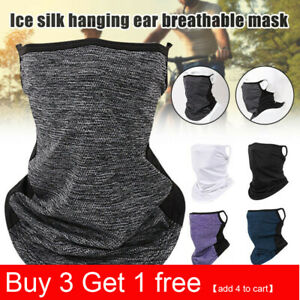 3-12Pcs Neck Tube Scarf Bandana Head Face Cover Neck Gaiter Ear Loops Headwear