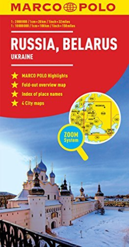 RUSSIA,BELARUS MARCO POLO MAP BOOK NEUF