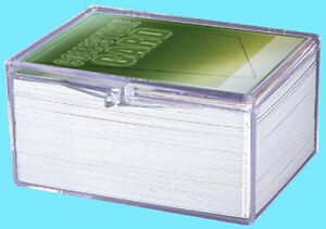 1-ULTRA-PRO-100-COUNT-CLEAR-HINGED-CARD-STORAGE-BOX-Case-Holder-Sports-Trading