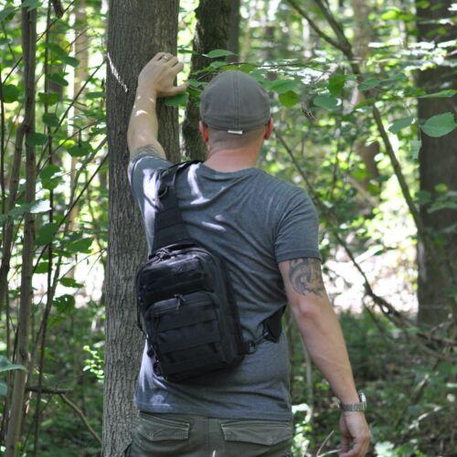 Schulterrucksack Eingurt Sling Body KEANU US BW Parker Olive Grün