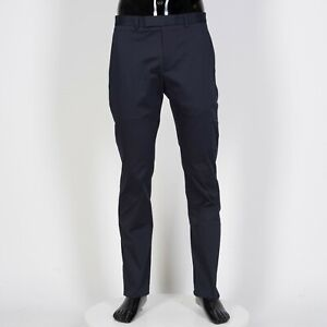 DIOR-HOMME-650-Navy-Stretch-Cotton-Chino-Pants-With-Bee-Embroidery
