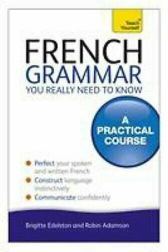 Français Grammaire You Really Besoin To Know Livre de Poche Robin Adamson