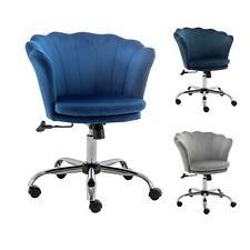 Swivel Home Office Chair Velvet Vanity Chairs Cute Shell Study Desk Seat Stools