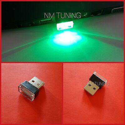 Mini LED USB Auto Beleuchtung GRÜN Ambiente