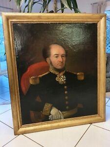 XIX ème S, Portrait d'Officier De Marine, grande taille