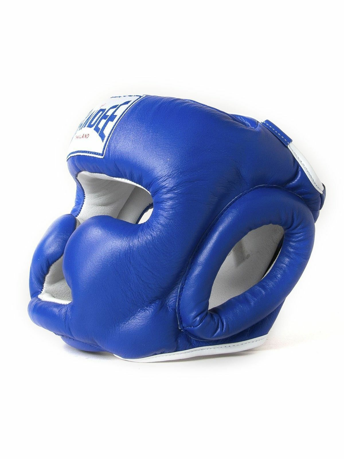 SANDEE Closed sintetica face blu Pelle sintetica Closed Head Guard MUAY-THAI BOXING-Kids 64acf2