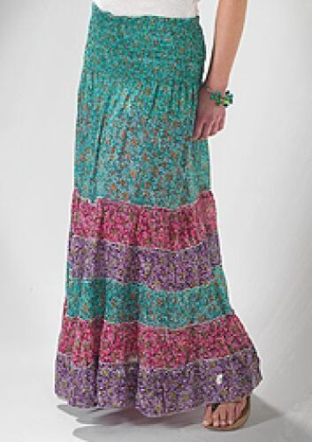 Gorgeous Print  Tiered Skirt//Dress Fairly Traded