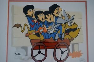THE-BEATLES-BULLRIDE-PICTURE-ANIMATION-LIMITED-EDITION-SERICEL-COA-FRAMED-NEW