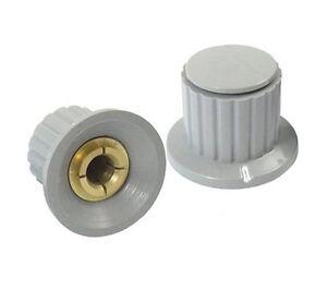 10 Pcs 6mm Eje insertar Dia Latón Potenciómetro las perillas de control Gris 1//4